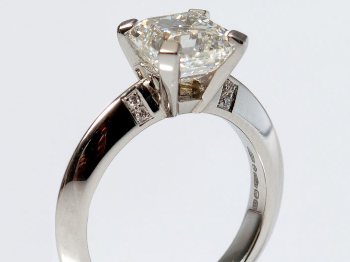 Piere Asscher Diamond Ring
