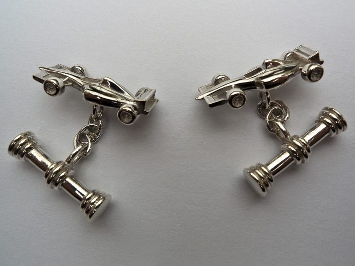Piere Racing Car Cufflinks