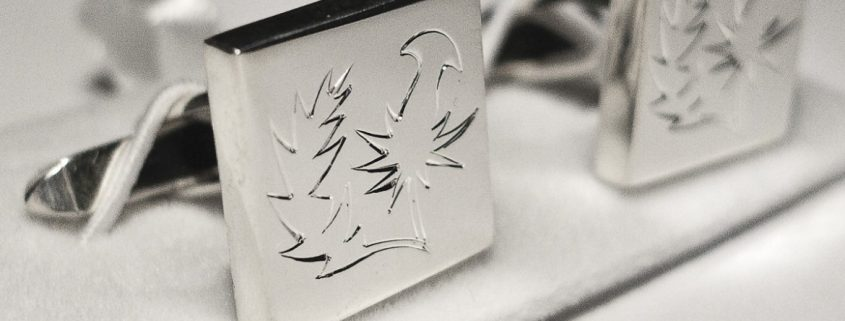 Piere thistle cufflinks